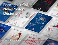 2019/2020 Bahçeşehir College New Poster Designs