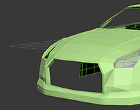 My first car modeling Nissan GTR