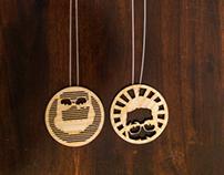 Kev Head Necklaces
