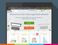 Internal employee network Landing page