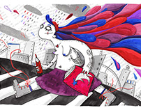 Editorial illustration for art magazine Pendzlik