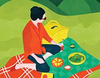 Picnic : Illustrated Print