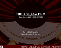 Foye Law Mock Up Web Design using PS and AI
