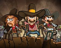 zombies VS cowboys
