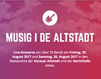 Website für Musik-Festival Musig I De Altstadt 2016
