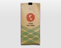 Free Kraft Bag Mockup for PSD