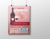 Hasseltse Wijnbeurs   Poster