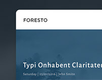 FORESTO - Dashboard Template