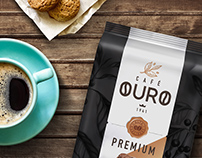 Branding & Packaging, for Café Ouro Coffees.