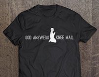 "T-Shirt design: ""Knee mail"""