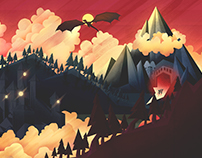 The Hobbit, A series of Personal Illustrations