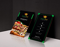 Canyon Pizza Vertical Business Card