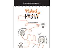 Naked Pasta Logo Identity and Modern Menu Design