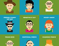 (School Challenge) Personality type illustration