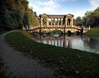 The Palladian Bridge at Prior Park (Bath UK)
