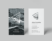 Alfred. Business Card Template