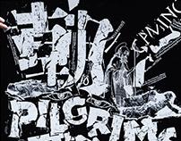 typographic collage: Martyrs, Pilgrims and Sadhus