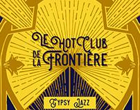 Le hot club de la frontière - Logo y portada de disco.