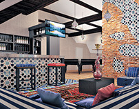 Moroccan penthouse in the private house