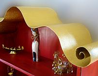 Cabinet & Shelves - Red Nonconformist