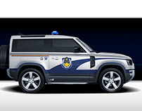 2020 Land Rover Defender China Police