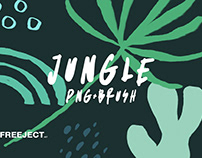 Free DEMO Abstract Jungle Element - Brush & PNG