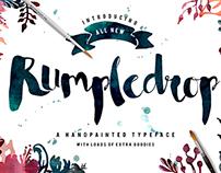Rumpledrop Typeface PLUS watercolor extras