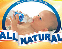 Afiche agua purificada All Natural