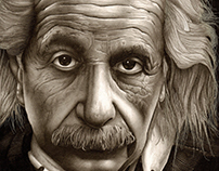 E = mc2 Albert Einstein sketch with pencil by hand.