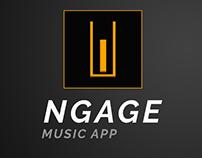 Ngage music app design