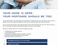 First South Bank: Mortgage Email Layout
