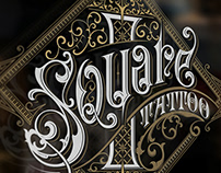 Square 1 Tattoo logo design