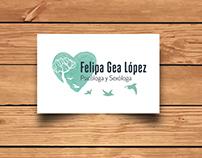 Tarjetas de visita Psicóloga Felipa Gea