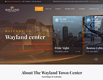 Wayland Website mockup design