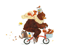 Bear, Cats, Squirrels and Birds going to a Party