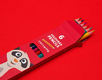 Coloured pencils packaging