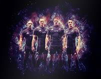 All Blacks Rugby - Poster