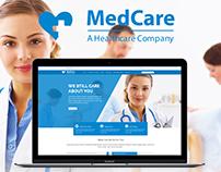 MedCare Web Design Concept