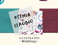 Illustrated Weddings (Ksenia + Claudio)