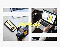 Pokaj — Minimalist Fashion Photographer Landing page