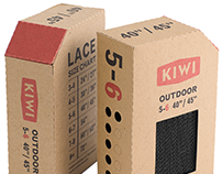 KIWI Shoelace Packaging & Brand