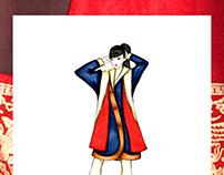Inspired by a Hanbok - Ilustración y Diseño de Abrigos