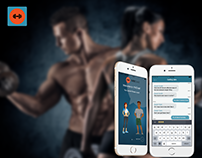 UX/UI Design - App for fitness messenger (iOS)