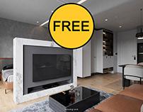 FREE SCENE 3D Interior Apartment 31