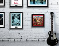 Advertising Framed music prints