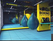 Fitness center in Khalg city.(Khirdalan) Boxing hall1