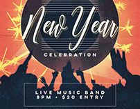 New Year Flyer & Facebook Cover