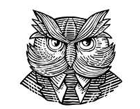 Hip Wise Owl Suit Woodcut