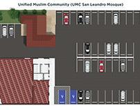 Floor plan rendering Mosque in San Leandro CALIFORNIA