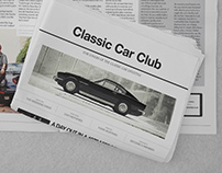 Classic Car Club promotional brochure